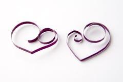 Hjärtor av papper som quilling för valentin dag Arkivfoto