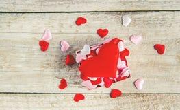 Hjärtor Förälskelse Selektivt fokusera Arkivfoton