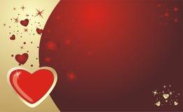 hjärtor för bakgrundskortdag till valentinen Royaltyfri Fotografi