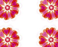 hjärtor för blomblommaram Arkivfoto