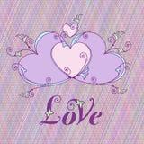 Hjärtor för design Valentindag, förälskelsemeddelande Fotografering för Bildbyråer