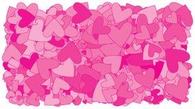 Hjärtor för en raddarosa färg Arkivfoto