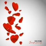 Hjärtor för kort för dag för valentin` s Royaltyfri Foto