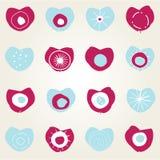 hjärtor för kortdesign stock illustrationer