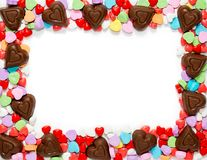 Hjärtor för valentindagchoklad Royaltyfria Bilder