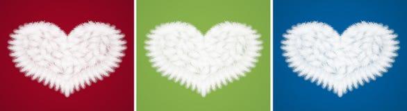 Hjärtor från fjädrar royaltyfri fotografi