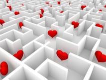 Hjärtor i labyrinten Royaltyfria Foton