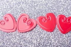 hjärtor little som är röd Royaltyfri Fotografi
