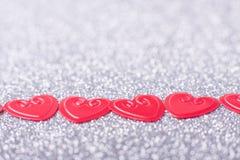 hjärtor little som är röd Royaltyfri Bild