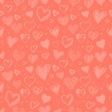 hjärtor mönsan den seamless valentinen royaltyfri illustrationer