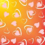 hjärtor mönsan seamless royaltyfri illustrationer