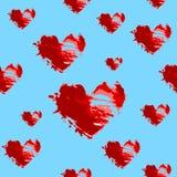 hjärtor mönsan seamless Arkivfoto