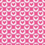 hjärtor mönsan seamless också vektor för coreldrawillustration Arkivfoto