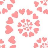 hjärtor mönsan seamless också vektor för coreldrawillustration Arkivfoton