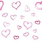 hjärtor mönsan seamless också vektor för coreldrawillustration Royaltyfria Foton