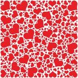 Hjärtor mönstrar, den lyckliga valentindagen Arkivbild