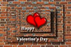 Hjärtor med lyckliga valentin för inspiration dag Arkivbild