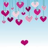 Hjärtor med pilbågar Arkivfoton