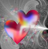 Hjärtor och fractal Arkivbilder