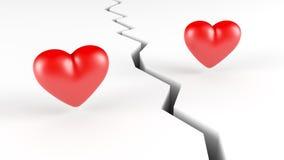 Hjärtor och spricka Arkivfoton