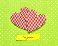 Hjärtor och text är jag din Fotografering för Bildbyråer