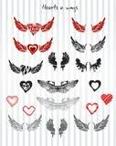 Hjärtor och vingar Arkivfoton