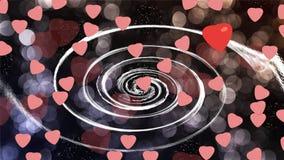 Hjärtor på bakgrund Arkivbild