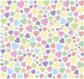 Hjärtor på en vit bakgrund Fotografering för Bildbyråer