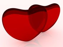 Hjärtor på valentin dag Royaltyfri Foto