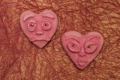 hjärtor pink två Royaltyfria Foton