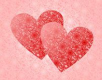 hjärtor snör åt stock illustrationer