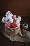 Hjärtor som göras av torkduken Royaltyfria Foton