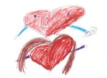 hjärtor som möter två Arkivfoton