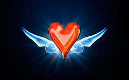 Hjärtor symbol av poker Arkivfoton