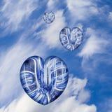 hjärtor till wind Arkivbild