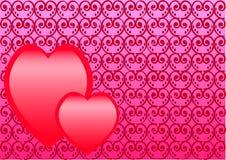 hjärtor två vektor illustrationer