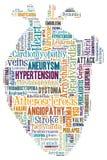 Hjärtsjukdom Kardiovaskulär sjukdom Hjärta av ord Arrythmia Arkivfoto