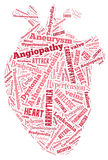 Hjärtsjukdom Kardiovaskulär sjukdom Hjärta av ord Arrythmia Arkivbild