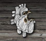 Hjärtsjukdomsymbol stock illustrationer