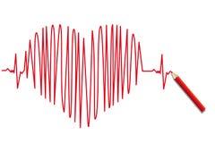 hjärtslag Arkivbild