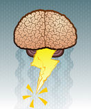 hjärnstorm Arkivbilder