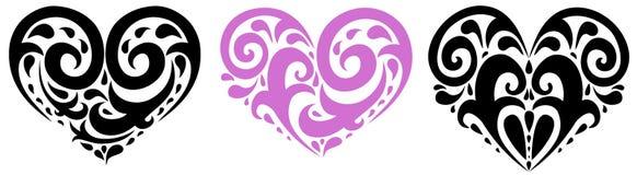 hjärtaillustration Royaltyfri Fotografi
