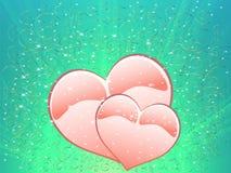 hjärtor som älskar två Fotografering för Bildbyråer
