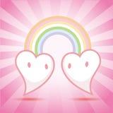 hjärtor som meetting vektor två Fotografering för Bildbyråer