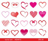 hjärtor ställde in Arkivfoto