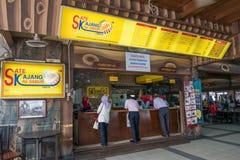 HJ Samuri è il ristorante satay famoso nella città di Kajang ed è situato appena accanto alla stazione di MRT fotografie stock libere da diritti