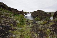 Hjalparfoss em Islândia sul, Europa Fotografia de Stock Royalty Free