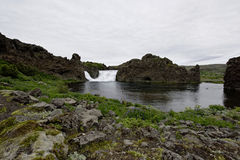 Hjalparfoss em Islândia sul, Europa Fotos de Stock