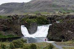 Hjalparfoss i södra Island, Europa Royaltyfri Foto