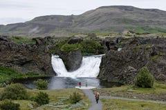 Hjalparfoss in Islanda del sud, Europa immagini stock libere da diritti